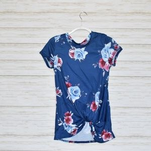 Floral Side Knot Top
